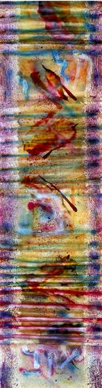 """96.5x26.5"""" acrylic on canvas, 1982"""
