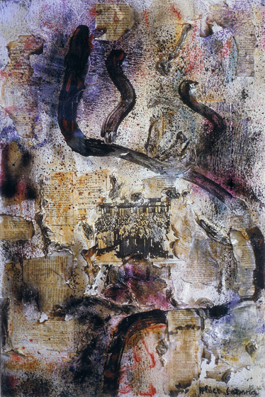 """47x31.5"""" collage on canvas, 1984"""