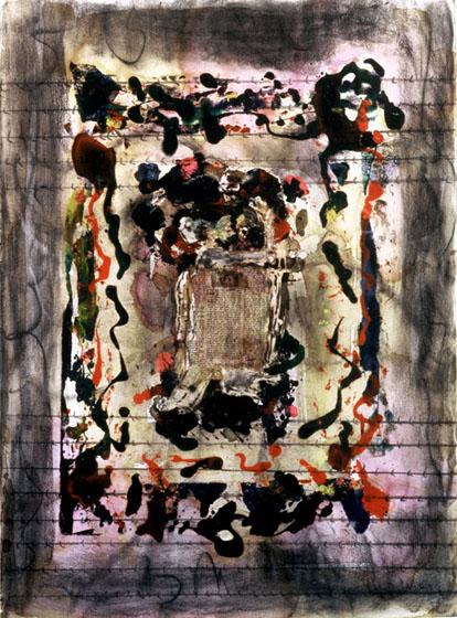 """29.5x22"""" acrylic on canvas, 1982"""