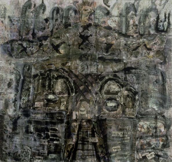 "80x84"" mixed media on canvas"
