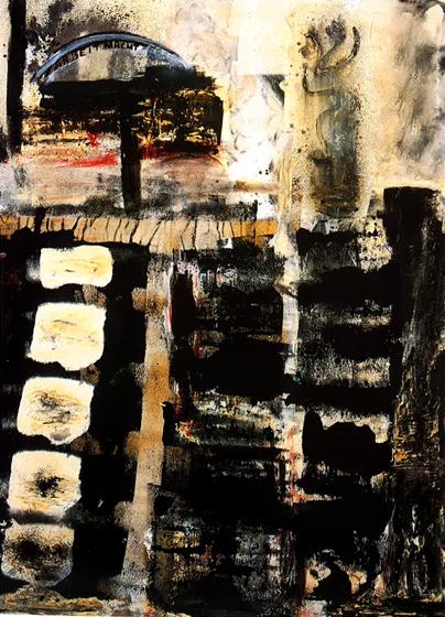 """66.5x49"""" acrylic on canvas, 1970-81"""
