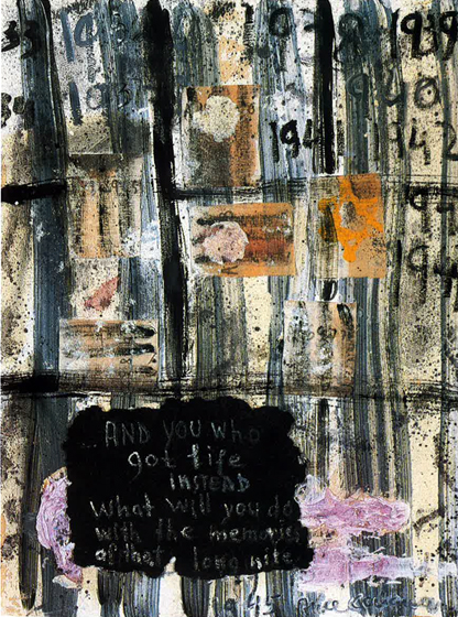 "40x31.5"" acrylic on paper, 1978-79"
