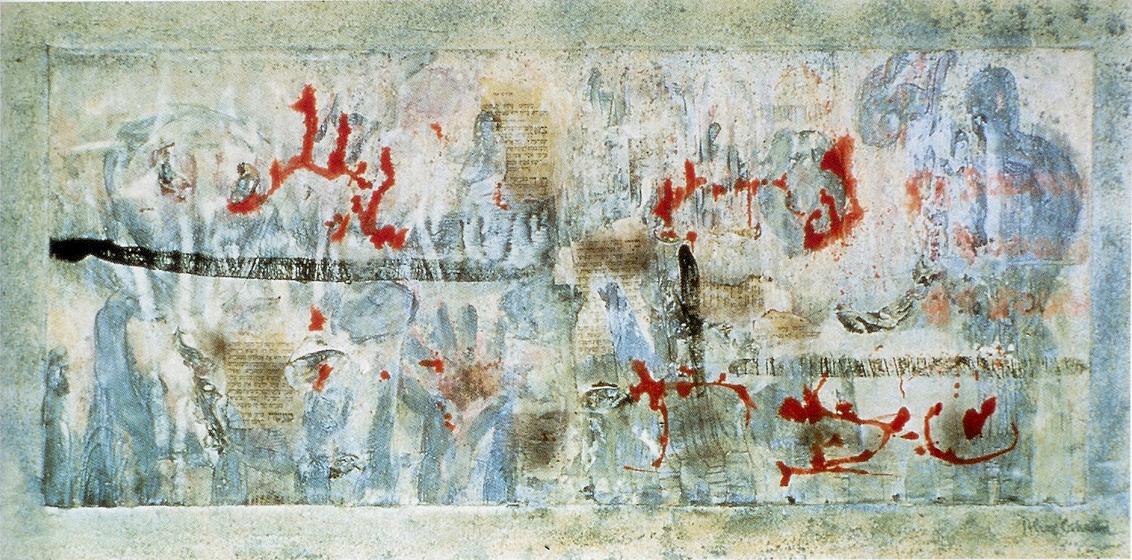 """42x85.5"""" acrylic on canvas, 1985"""